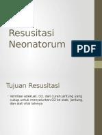 Resusitasi Neonatorum