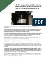 A los municipios de Sonora que pidan créditos menores  a 50 millones de pesos, no se les exigirá el dictamen de sus estados financieros para autorizarles un crédito.