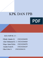 KPK DAN FPB