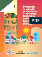 Protocolo de actuación en situaciones de hallazgo, tenencia y consumo y tráfico de drogas
