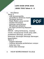 Bahasa Melayu Kssr 4-6 Upsr 2016- Tema Dan Aktiviti (1)