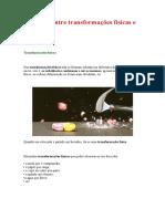 Distinção entre transformações físicas e químicas7ºano.doc