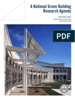 A National Green Building Research Agenda