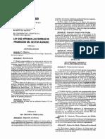 Ley de Promoción del Sector Agrario