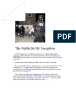 The Public Safety Exception