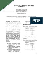 Calibracion de Un Matraz Volumetrico