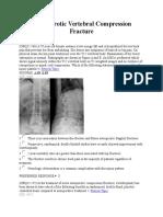 Osteoporotic Vertebral Compression Fracture