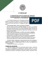 2ª Circular - II Interescuelas de Filosofia Del Derecho
