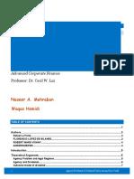 Advanced Corporate Finance Report