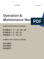 Operation and Maintenance Manual Motores P158LE P180LE P222LE Daewoo Doosan