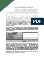 Formato de Acta de Junta de Acreedores Nota ... - Indecopi