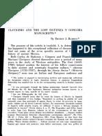 Burrus, E. J., Clavijero y Los Manuscritos Perdidos de Sigüenza y Góngora
