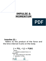02 Momentum, Impulse and Collision