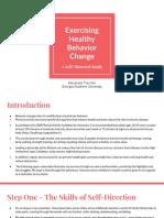 exercising healthy behavior change