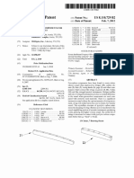 "US Patent 8,110,729, entitled ""Pyrolytic carbon components for stringed instruments"", issued 2012."