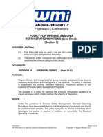 09 WMI-Policy for Opening Ammonia Refrigeration Systems