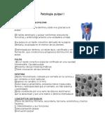 Patologia Pulpar I