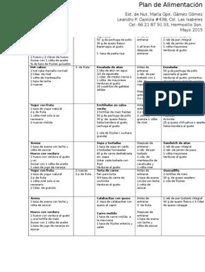 dieta hipocalorica semanal pdf