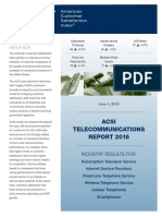 ACSI Telecommunications Report 2016