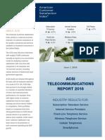 ACSI Telecommunications Report 2016