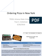 Ordering Pizza in New York- Assessment
