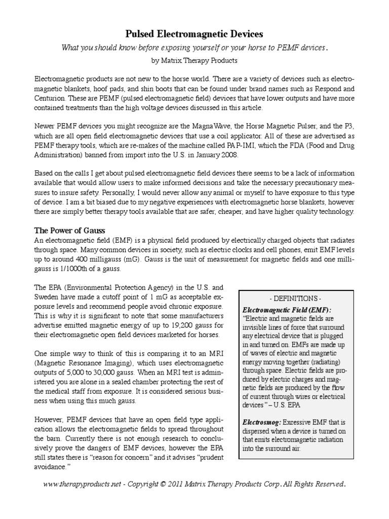 Pemf Dangers | Electromagnetic Field | Electromagnetic Radiation