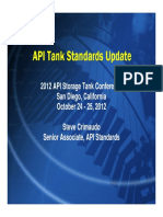 2012 API Storage Tank Conference - Tank Standards Update