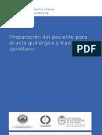 Preparacion Del Pacuente Antes y Despues Del Acto Quirurgico