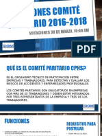 Elecciones Comité Paritario 2016-2018 VENTISQUERO