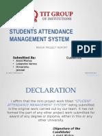Attendance Management System (Author Ankit Mishra)