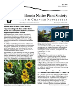 May 2010 Newsletter ~ Marin Chapter, California Native Plant Society