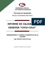 Herramientas y Control Estadístico de la Calidad en Gaseosa Coca Cola