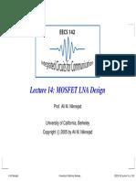 LNA Design for RF engineers Berkeley