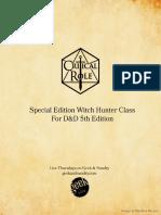 Witch Hunter Class 5e