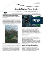 April 2009 Newsletter ~ Marin Chapter, California Native Plant Society