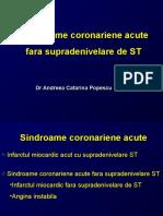 Curs 8 Sindroame Coronariene Acute Fara Supradenivelare ST 03.2016