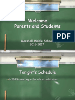 Marshall Middle School Grade 6 Orientation FY 17