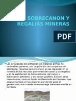 Canon Sobrecanon y Regalias Mineras