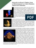 Las Formas Etéricas de Los Devas O Ángeles, Cuyas Vidas Constituyen Misteriosamente Los Cuatro Elementos Básicos de La Naturaleza (Vicente Beltrán Anglada)