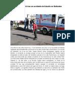 Una Niña Falleció Tras Un Accidente de Tránsito en Quitumbe