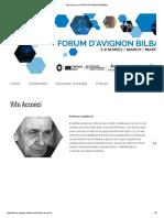 Vito Acconci _ Forum d'Avignon Bilbao
