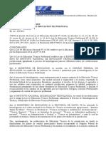 Resolución Nº 458-2012 INET - Homologación de Títulos