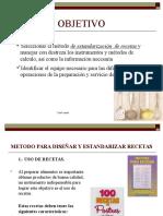 Estandarizacion de Recetas y Porciones