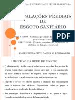 Instalações Prediais de Esgoto Sanitário_Cássia