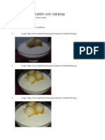 Mousse de Melón Con Naranja