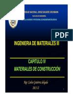 Ing de Materiales III 2015 Materiales de Construccion