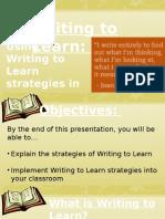 Writing to Learn Strategies