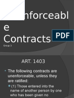Unenforceable Contracts