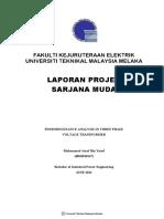 Ferroresonance Analysis in Three Phase Voltage Transformer - 24 Pages