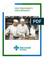 Alberta Food Safety Basics Home Study Booklet